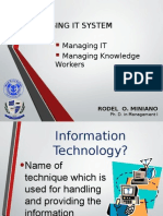 IT and Knowledge Worker