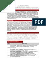 Plano Disciplinar 2010 - Psicologia Escolar - Uniban Morumbi II noturno - 3.ano