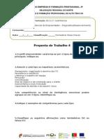 Proposta de Trabalho 4 Ufcd 7852