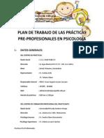Plan de Trabajo Psicologia Juan Pablo II