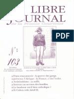 Libre Journal de la France Courtoise N°103