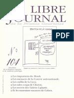 Libre Journal de la France Courtoise N°104