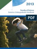 2013 Statistics Undergraduate Handbook