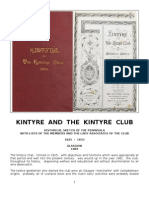 Kintyre Club - 1825 to 1981