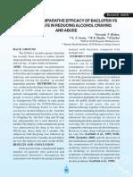 A Study of Comparative Efficacy of Baclofen vs Acamprosate