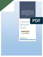 Consumer Behavior Project_MakeMyTrip