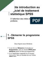Petite Introduction Au Logiciel de Traitement Statistique
