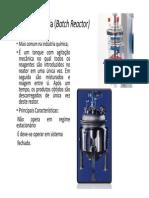 Aula Introdução Projeto de Reatores - Reator Batelada