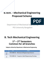 pes u mech b tech scheme proposed