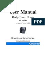 "Manual PDF Voip Budget tone 100 ""GrandStream"""
