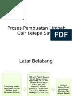 Proses Pembuatan Limbah Cair Kelapa Sawit