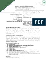 Programa de Taller de Ingenieria de La Fundicion