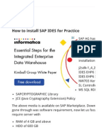 Sap Installation Guide