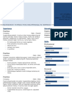 Deep Blue Technology Resume Format