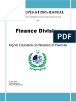 Operations Manual of Finance Division