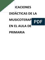 Guión Taller de Musicoterapia