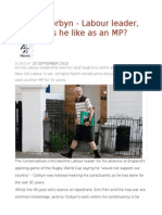 Jeremy Corbyn - Labour Leader, But What's He Like as an MP