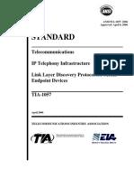 ANSI-TIA 1057 -2006 - Telecommunications IP Telephone Infrastructure
