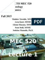 MEC 520 Lecture 1 F15