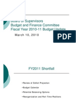 March 9, 2010 Board of Supervisors Budget Update