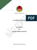 Licenciatura em Ciências Militares Exército