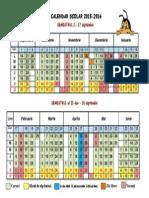 Calendar școlar2015-2016