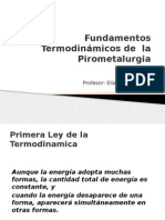 Fundamentos Termodinamicos de La Pirometalurgia