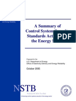 Summary of CS Standards Activities in the Energy Sector