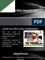 Resolucion 2400 de 1979