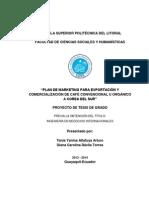 Plan de Marketing Para Exportación y. Comercialización de Café Convencional