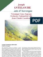 Canteloube Chants d'Auvergne