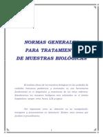 Normas Generales Para El Tratamiento de Muestras Biologicas
