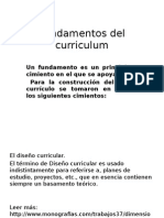 Fundamentos Del Curriculum