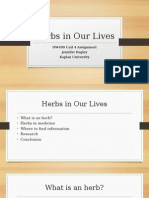 herbs in our lives-hw499 unit4 ppt