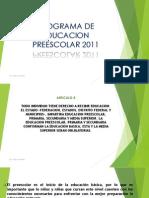Programa de Educacion Preescolar 2011