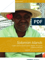 Solomon Islands - Gender and Investment Climate Reform Assessment
