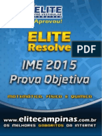Elite Resolve IME 2015 1ª fase