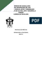 Protocolo de Practica 1 Introduccion a La Psicoterapia 2015 B Tv