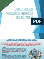 El Agua Como Recurso Hidrico en El Perú