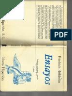 HöLderlin - PáGinas de -Ensayos