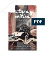 Williams Raymond - Lectura Y Critica