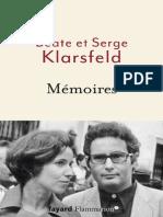 Memoires - Serge Klarsfeld