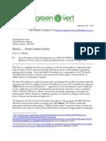 Letter to CRA Re Munk Debate
