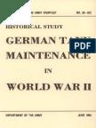 German Tank Maintenance