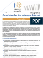 Programa de Curso Intensivo de Marketing por Internet