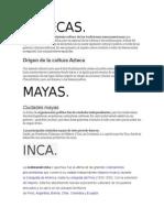 Culturas Mesoamericanas.