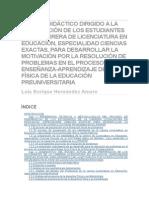 Modelo Didáctico Dirigido a La Preparación de Los Estudiantes de La Carrera de Licenciatura en Educación