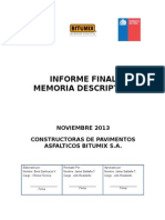 Informe Final Memoria Descriptiva Bitumix
