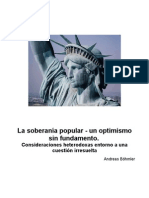 Bohmler.- La soberanía popular - un optimismo sin fundamento