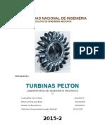 Informe de Turb. Pelton